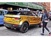 Luxury & Prestige Gold Range Rover Chauffeur Airport pickup dropoffs wedding taxi