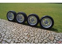 **BMW 154 Alloys 16 INCH** Genuine Set of 5***TWO SETS OF NEW TYRES