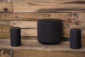 2nd gen echos speakers x 2 and echo subwoofer