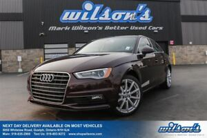 2015 Audi A3 2.0T PROGRESSIV AWD! LEATHER! NAVIGATION! PANORAMI