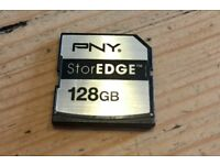 PNY StorEdge 128Gb SD card for MacBook.