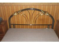 double bed base and art deco headboard