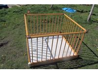Wooden play pen 2ft by 2ft