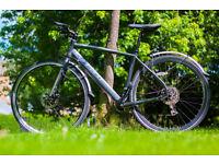"Carrera Gryphon Hybrid Bike, Disc Brakes, 19"" Frame, Handlebar ends, Mudguards, Lights! City Centre."