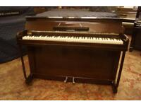 Small compact mahogany Kemble minx piano. Tuned and uk delivery available