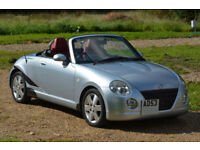 Daihatsu Copen Convertible 2004 Silver - Red Leather Interior - Low mileage