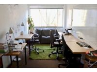 Office furniture; desks, chairs, white board, sofa, shelves, etc