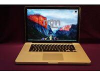 "2.4GHZ CORE 2 DUO 15"" Apple MacBook Pro 8GB 750GB CUBASE 8 LOGIC PRO X MICROSOFT OFFICE VECTORWORKS"