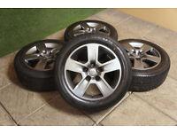 "Genuine Audi 16"" Trapez Alloy wheels & Tyres 5x112 A4 A6 VW Golf Passat Caddy T4 Volkswagen A3"