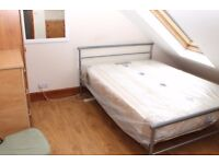 Double room available now for single person