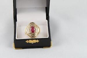 Bague or diamant et rubis (u022960)