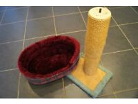 Cat Bed and Scratch Post