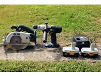 18v Circular Saw & Drill - NiCad battery flat.