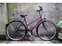 TORPEDO TOURING, 20 inch, ladies womens dutch hybrid road city bike, 5 speed, pedal brake, mudguards