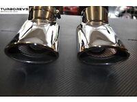 Range Rover sport diesel chrome exhaust tips.