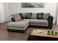 **BRAND NEW** Byron fabric jumbo cord sofas/ corner sofa or 3+2 seater set in grey/black or brown