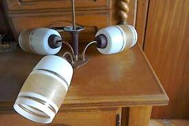 Vintage ceiling three branch light
