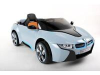 BMW i8 Concept toy ride-on car for toddlers with remote control