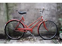 PUCH TOURING, vintage ladies women's dutch style traditional road bike, 21 inch, 3 speed
