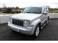 09 JEEP CHEROKEE 2.8 CRD LIMITED AUTO TIP 4WD ++ FULL HEATED LEATHER & FULL MOT ++