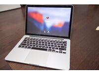 Macbook pro Retina Display late 2013 model with 8gb Ram 256 SSD drive
