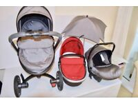 SILVER CROSS SURF Full Travel System, Carry Cot, Stroller/Push Chair, Car Seat