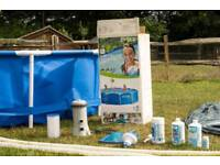 Steel framed pool 12 ft with pump