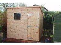 Pent sheds