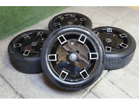 "Genuine Cades Jadis 15"" Alloy Wheels & Tyres 4x108 Ford Fiesta KA Puma"