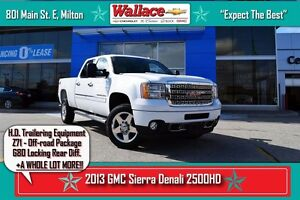 2013 GMC SIERRA 2500HD DENALI/Z71/HD TRAILERING/G80/DVD