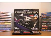 Retro Gaming / Video Games - Mega Drive Boxed + 2 Controllers + Leads + 28 Games (some rare)