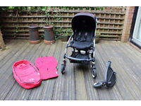 Bugaboo Bee with Cocoon, Seat Liner, and Buggy Board