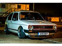 **REDUCED** VW GOLF MK1 GTi, engine rebuild, panels off respray, genuine 78k mileage, ££ extras
