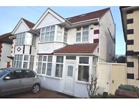 Large 4 bed extended semi, 2 bathrooms. 60' garden, parking for 2 cars, garage. Must be seen