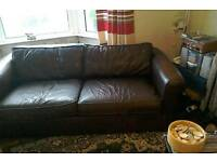 Thomas Lloyd leather sofa