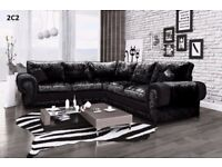 Large Curshed velvet sofa range