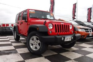 2015 Jeep WRANGLER UNLIMITED Sport | 4x4 | V6 | Cruise Control |