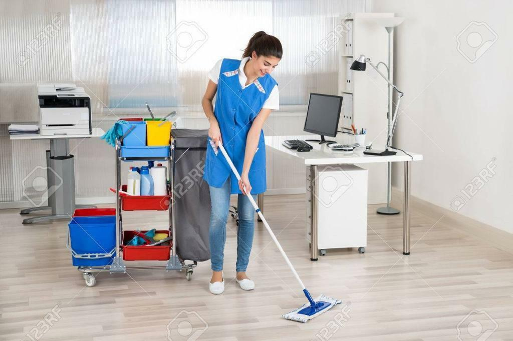 I'm looking for a cleaner job in an office