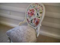 Antique Victorian chair, completely reupholstered.