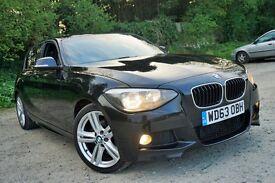 2014 Model (63) BMW 120D M SPORT XDrive 5dr 4x4 SAT NAV LEATHER CAMERA HI FI H/SEATS - £5k Options!!