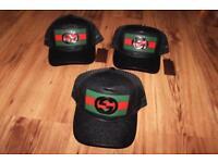 Black & Green leather Gucci designer Baseball cap