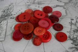 Large pack of Red Buttons