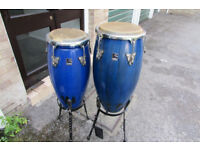Conga drum set with stands