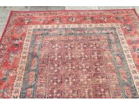 Red mixed colour rug 100 % wool quality maker Hand made carpets
