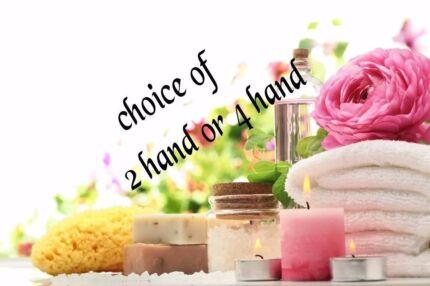 2 hand or 4 hand massage