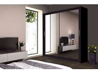 BRAND NEW - CHICAGO 2 DOOR SLIDING WARDROBE WITH FULL MIRROR ---- ORDER NOW !!