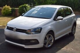 White 1.2 TSI Volkswagen VW Polo R Line - High Specs inc. Heated Seats, Touchscreen console
