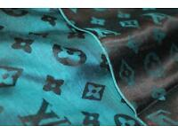 Louis Vuitton shawl scarf big blue / green