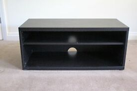 Ebony tv/dvd cabinet with one removable shelf