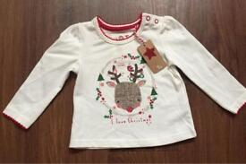 Baby girl Christmas top ,shirt up to 3 Month New